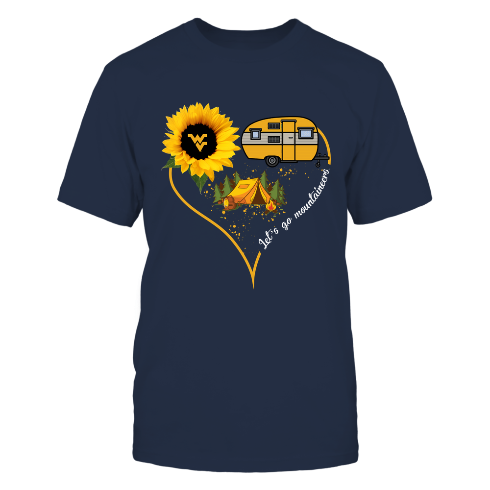 West Virginia Mountaineers - Camping Sunflower Heart  - IF32-IC32-DS75 Front picture