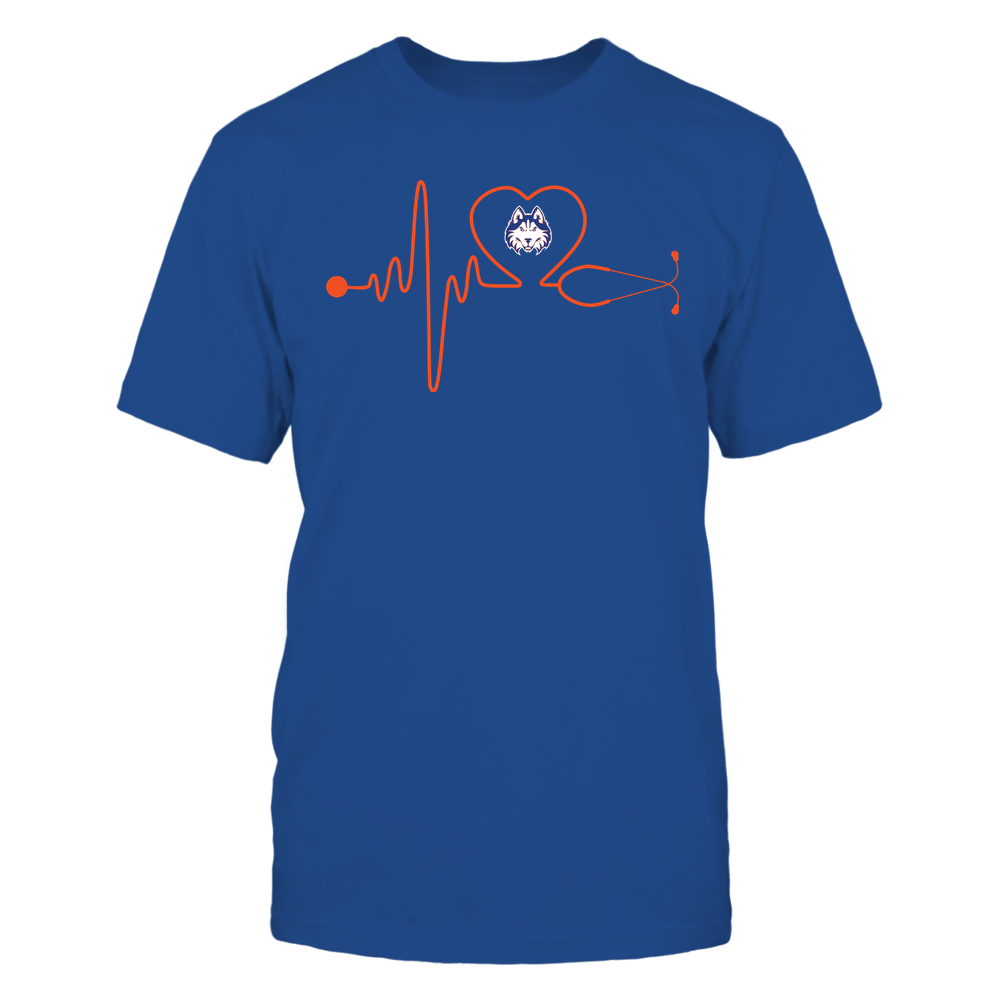 Houston Baptist Huskies - Nurse - Stethoscope Heartbeat - IF13-IC13-DS37 Front picture