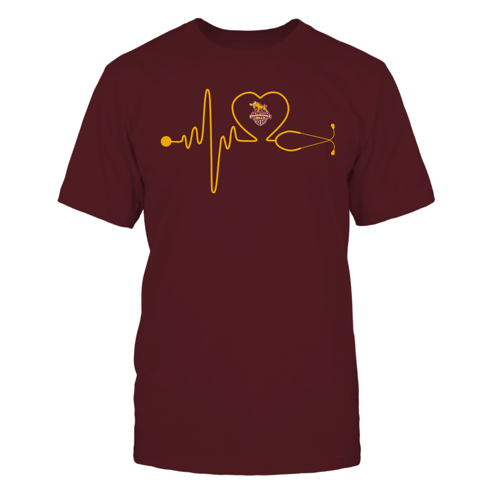Cal State Dominguez Hills Toros - Nurse - Stethoscope Heartbeat - IF13-IC13-DS37 Front picture