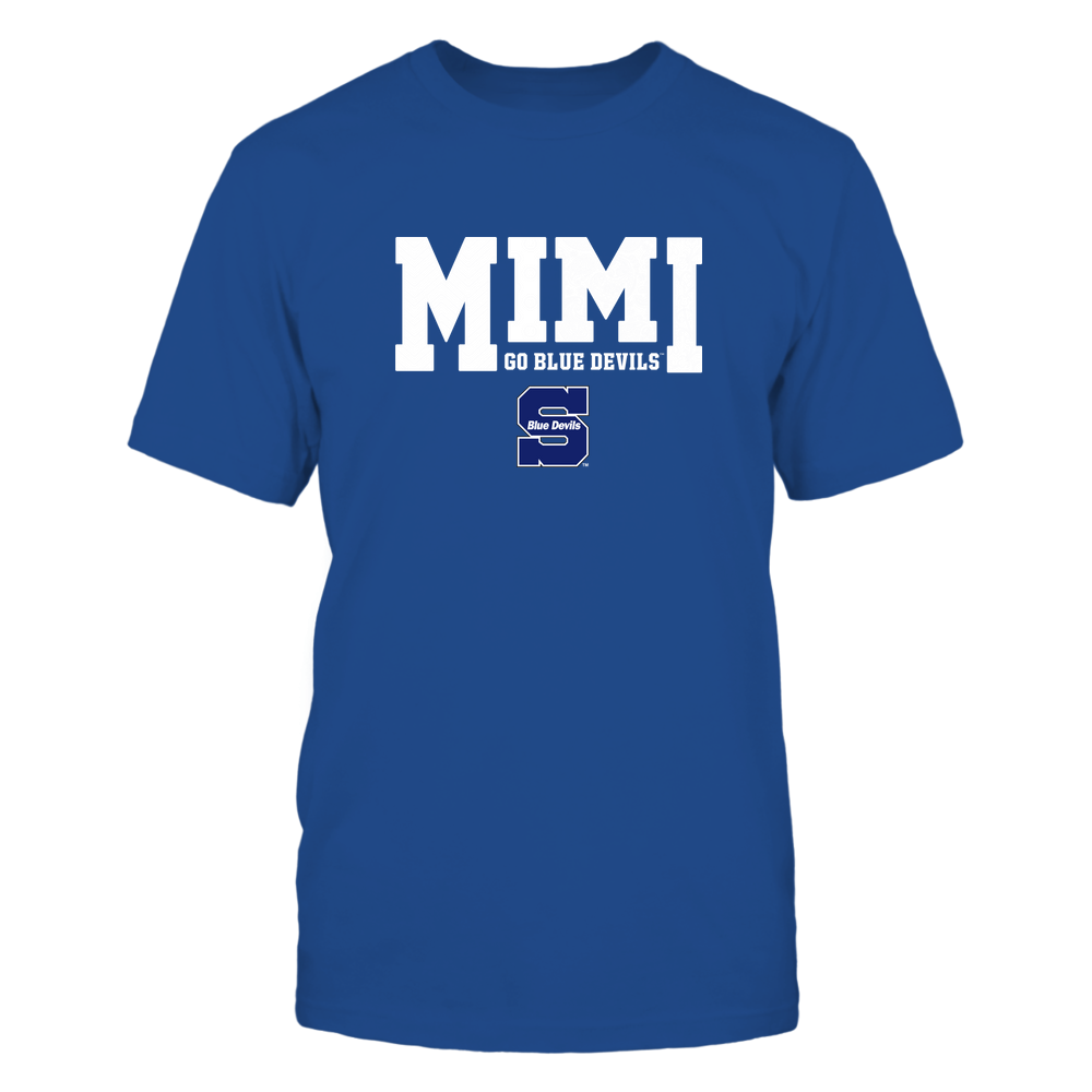 Wisconsin Stout Blue Devils - 19070910463 - Mimi - Slogan- Patterned - IF13-IC13-DS27 Front picture