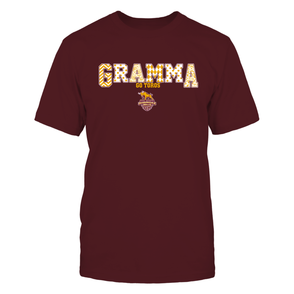 Cal State Dominguez Hills Toros - 19070910468 - Gramma - Slogan- Patterned - IF13-IC13-DS75 Front picture