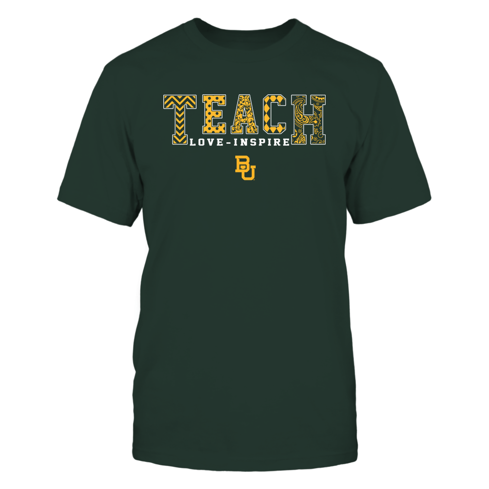 Baylor Bears - 19082210336 - Teach Love Inspire - Slogan Pattern - IF17-IC17-DS27 Front picture