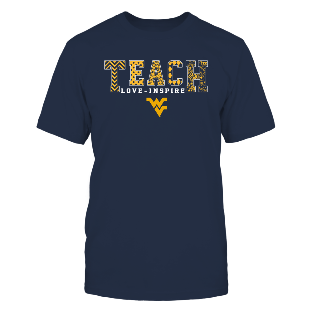 West Virginia Mountaineers - 19082210336 - Teach Love Inspire - Slogan Pattern - IF17-IC17-DS27 Front picture