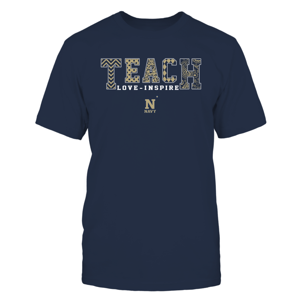 Navy Midshipmen - 19082210336 - Teach Love Inspire - Slogan Pattern - IF17-IC17-DS27 - APCX Front picture