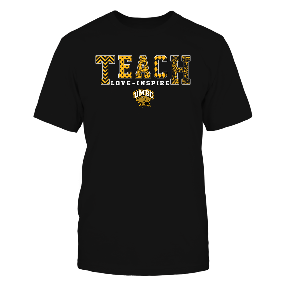 UMBC Retrievers - 19082210336 - Teach Love Inspire - Slogan Pattern - IF17-IC17-DS27 Front picture