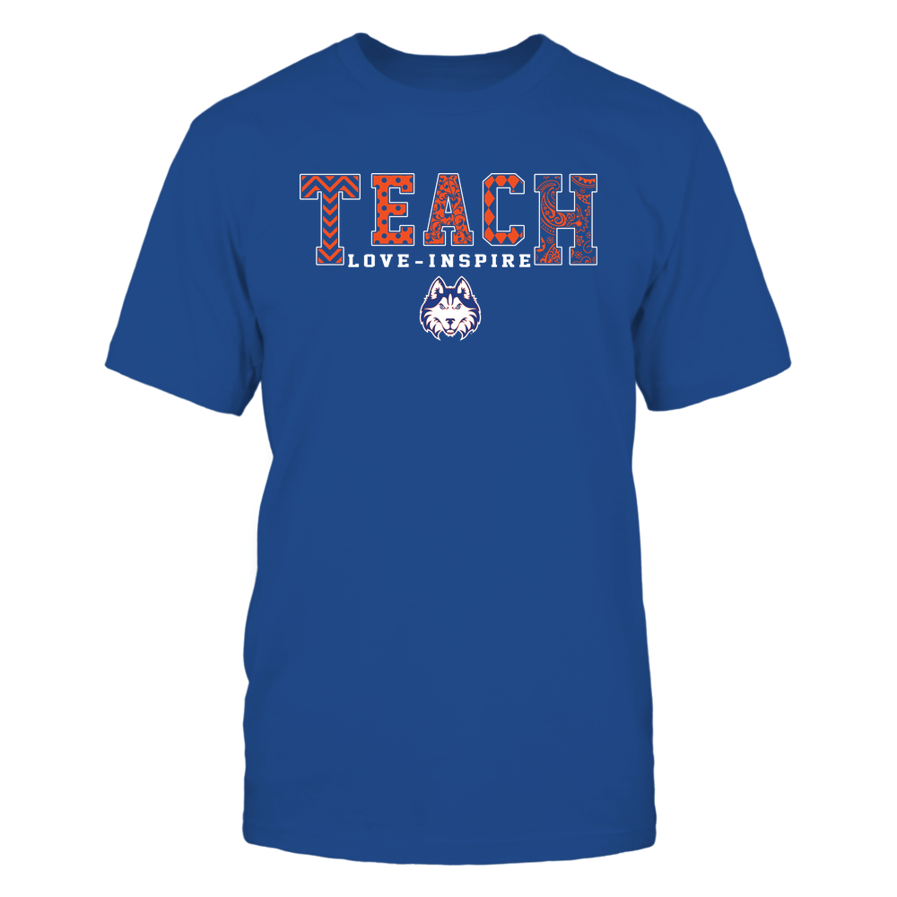 Houston Baptist Huskies - 19082210336 - Teach Love Inspire - Slogan Pattern - IF17-IC17-DS27 - APCX Front picture