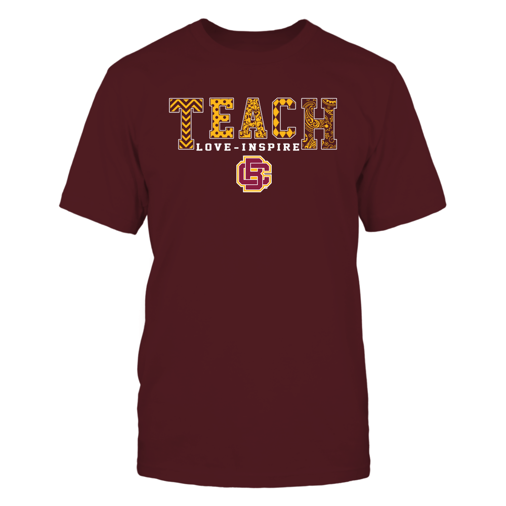 Bethune-Cookman Wildcats - 19082210336 - Teach Love Inspire - Slogan Pattern - IF17-IC17-DS27 - APCX Front picture