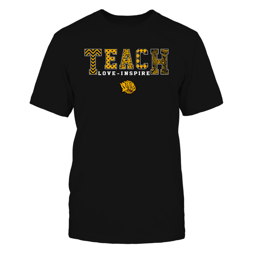 Arkansas Pine Bluff Golden Lions - 19082210336 - Teach Love Inspire - Slogan Pattern - IF17-IC17-DS27 - APCX Front picture