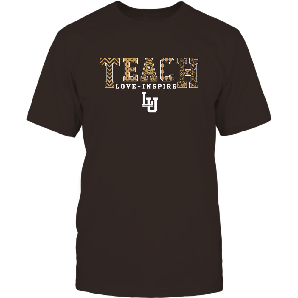 Lehigh Mountain Hawks - 19082210336 - Teach Love Inspire - Slogan Pattern - IF17-IC17-DS27 Front picture