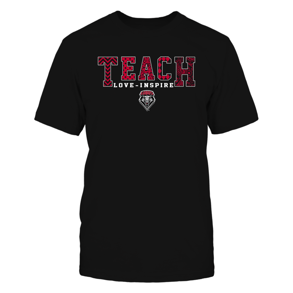 New Mexico Lobos - 19082210336 - Teach Love Inspire - Slogan Pattern - IF17-IC17-DS27 Front picture