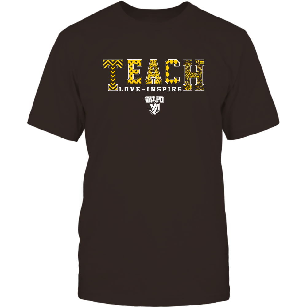 Valparaiso Crusaders - 19082210336 - Teach Love Inspire - Slogan Pattern - IF17-IC17-DS27 Front picture