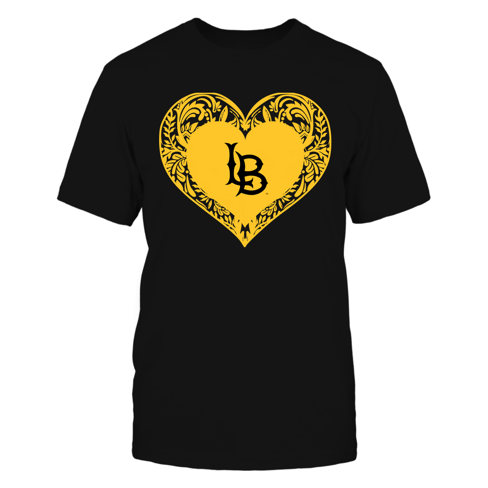 Long Beach State 49ers - Floral Patterned Heart - Logo - Team Front picture