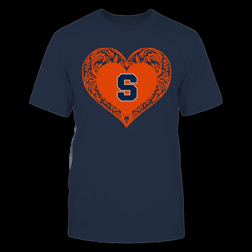 Syracuse Orange - Floral Patterned Heart - Logo - Team Front picture