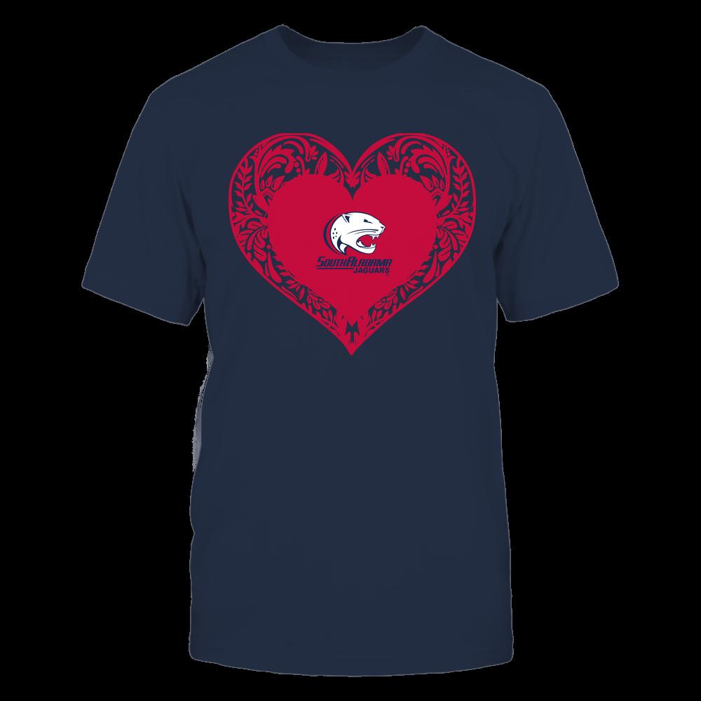 South Alabama Jaguars - Floral Patterned Heart - Logo - Team Front picture