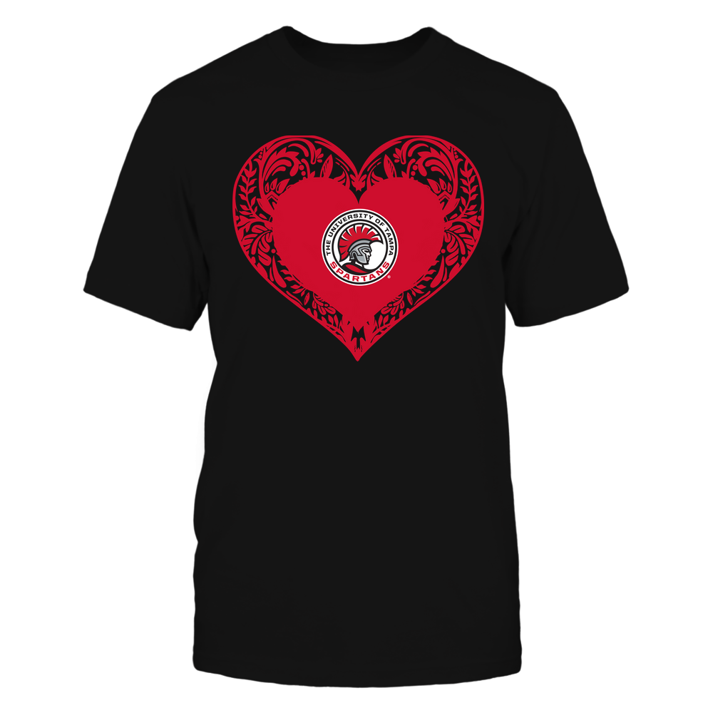 Tampa Spartans - Floral Patterned Heart - Logo - Team Front picture