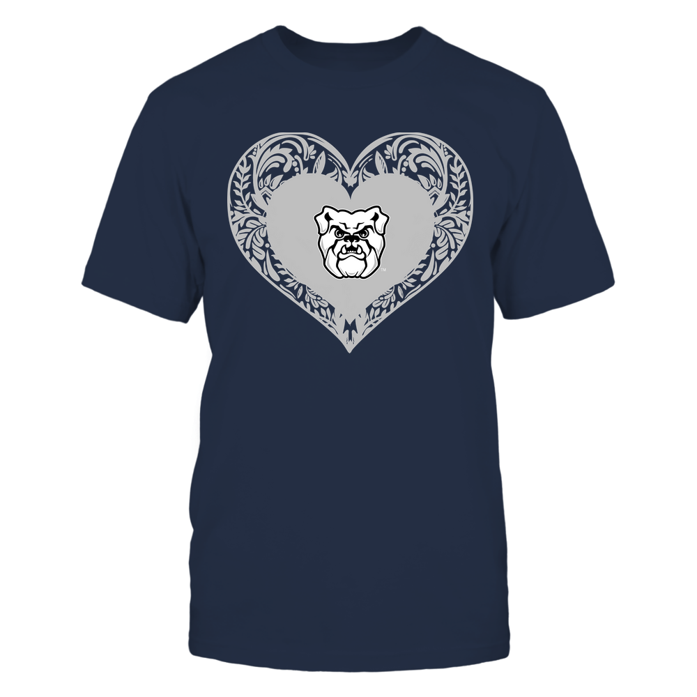 Butler Bulldogs - Floral Patterned Heart - Logo - Team Front picture