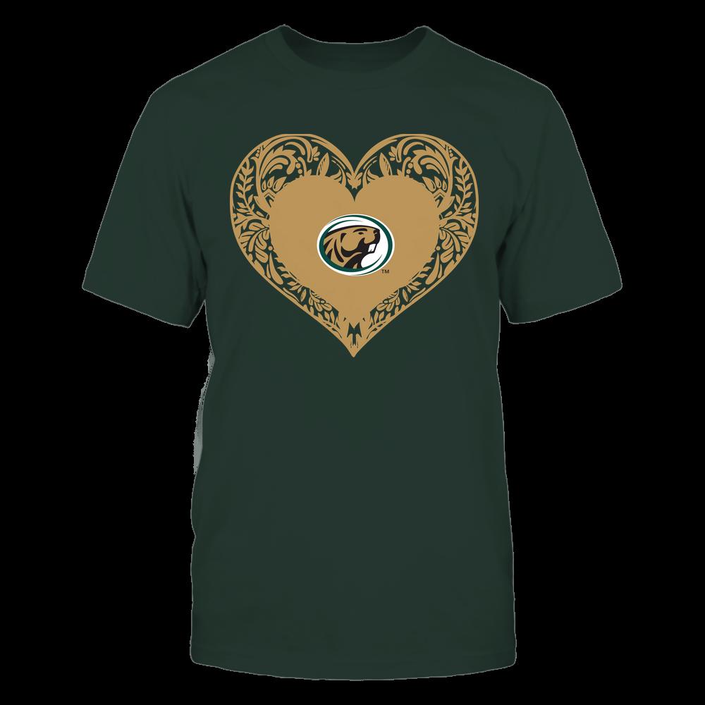 Bemidji State Beavers - Floral Patterned Heart - Logo - Team Front picture