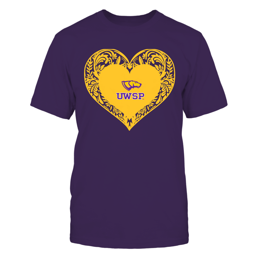 Wisconsin-Stevens Point Pointers - Floral Patterned Heart - Logo - Team Front picture