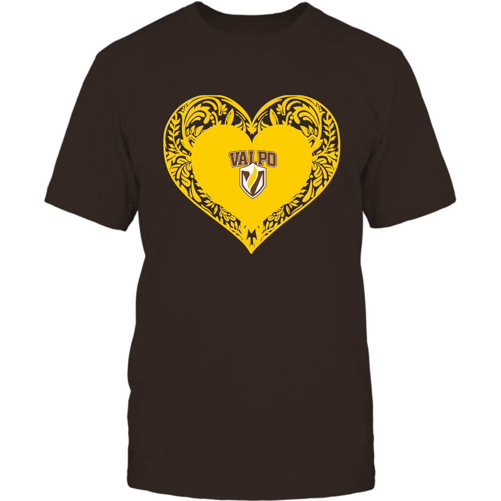 Valparaiso Crusaders - Floral Patterned Heart - Logo - Team Front picture