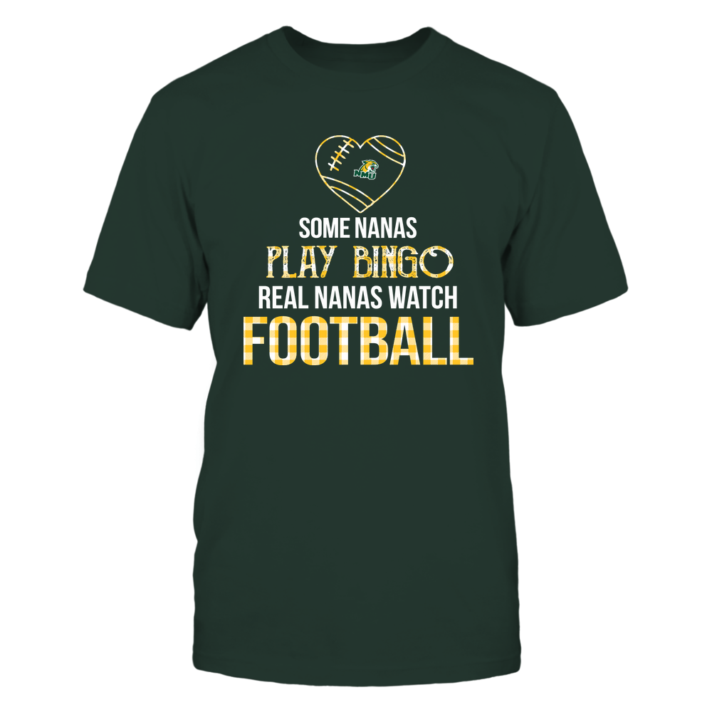 Northern Michigan Wildcats - Real Nanas Watch Football - Bingo Front picture