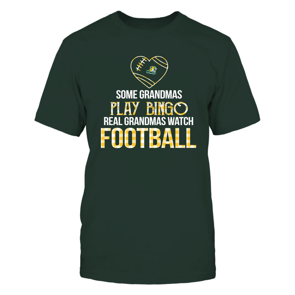 Northern Michigan Wildcats - Real Grandmas Watch Football - Bingo Front picture