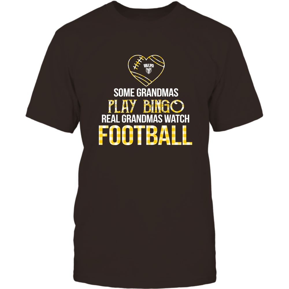 Valparaiso Crusaders - Real Grandmas Watch Football - Bingo Front picture
