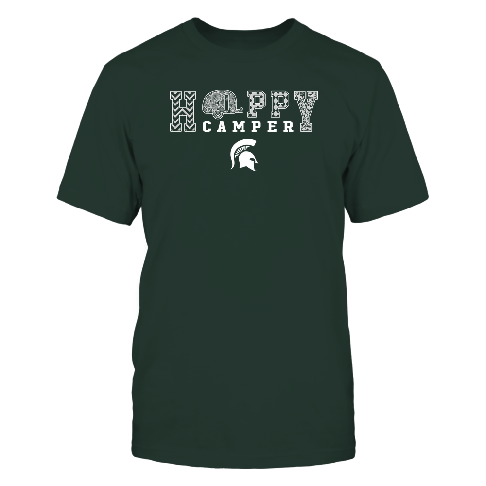 Michigan State Spartans - Camping - Happy Camper Patterned - IF-IC13-DS45 Front picture