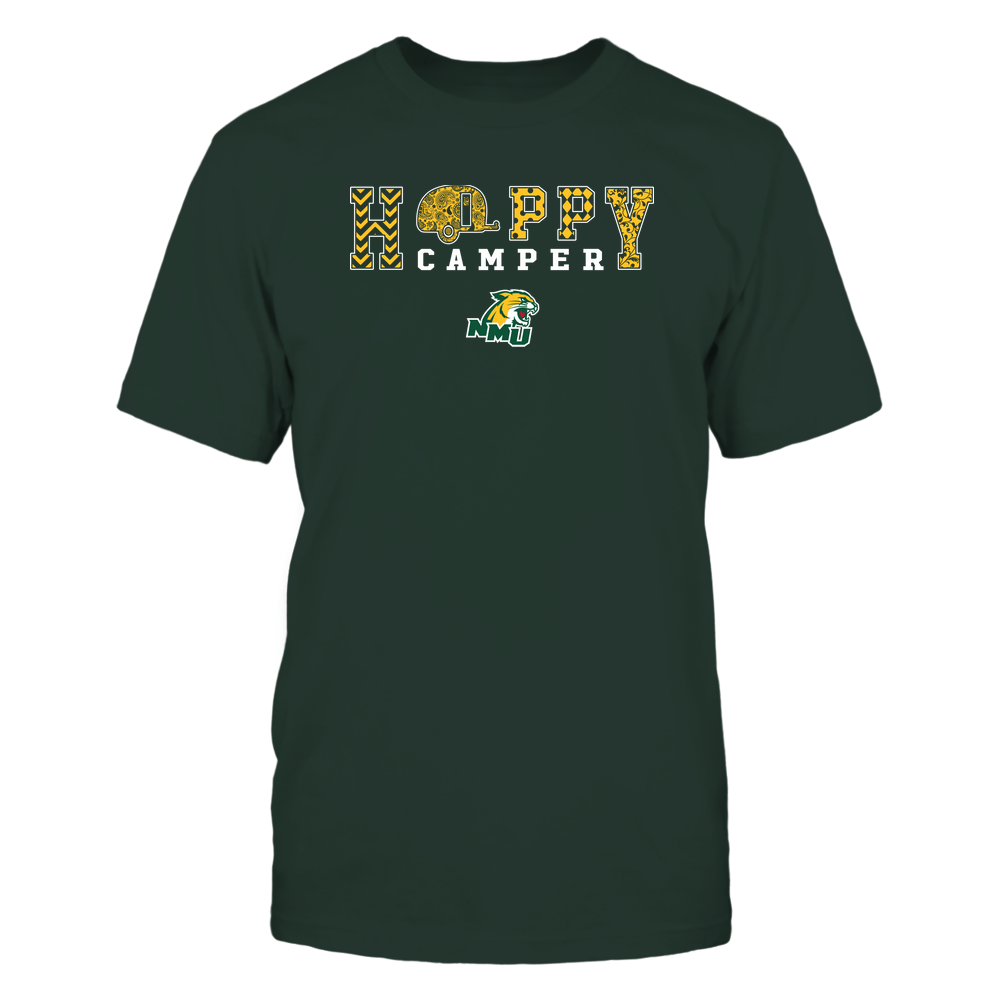 Northern Michigan Wildcats - Camping - Happy Camper Patterned Front picture