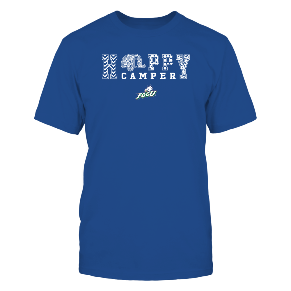 Florida Gulf Coast Eagles - Camping - Happy Camper Patterned Front picture