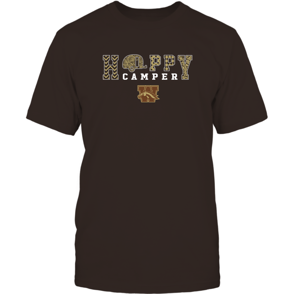 Western Michigan Broncos - Camping - Happy Camper Patterned Front picture