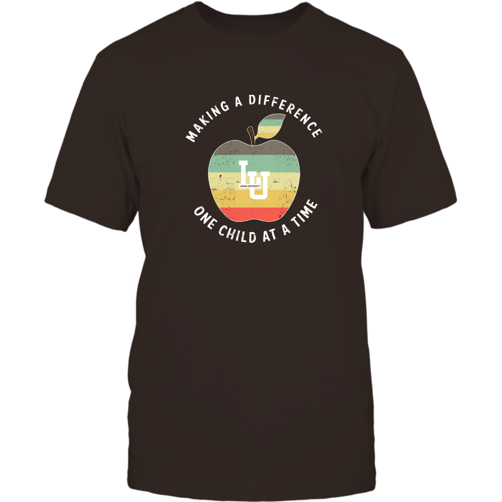 Lehigh Mountain Hawks - Teacher - Difference Maker Apple Vintage Graphic Front picture
