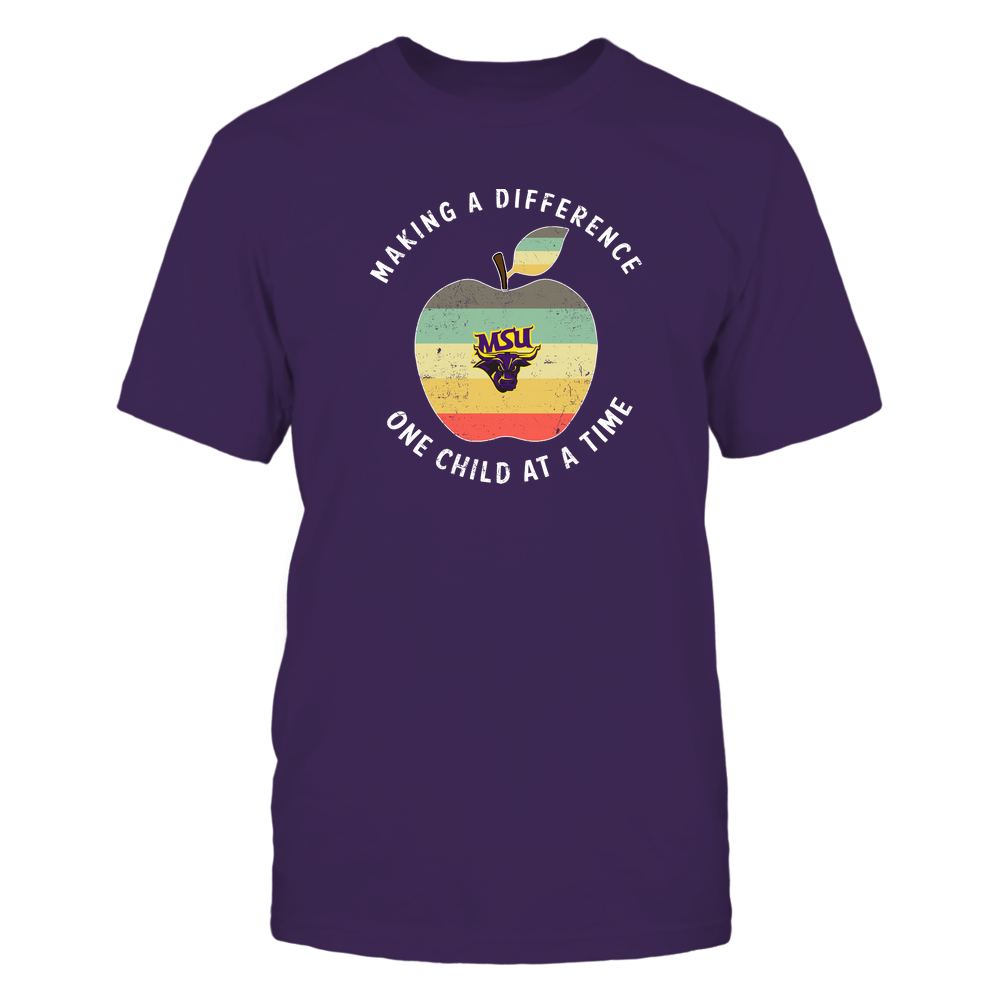 Minnesota State Mavericks - Teacher - Difference Maker Apple Vintage Graphic Front picture