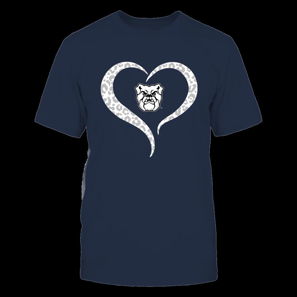 Butler Bulldogs - Half Heart - Leopard Pattern Front picture