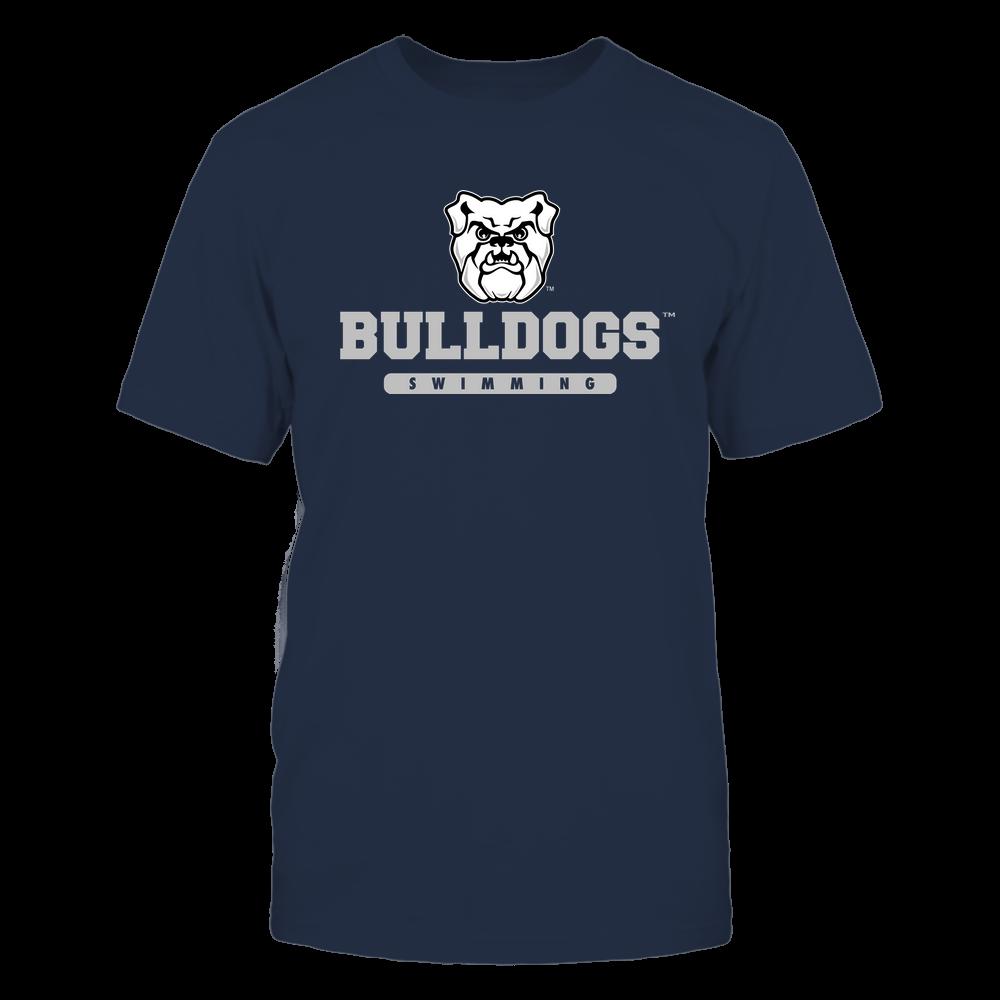 Butler Bulldogs - Mascot - Logo - Swimming Front picture