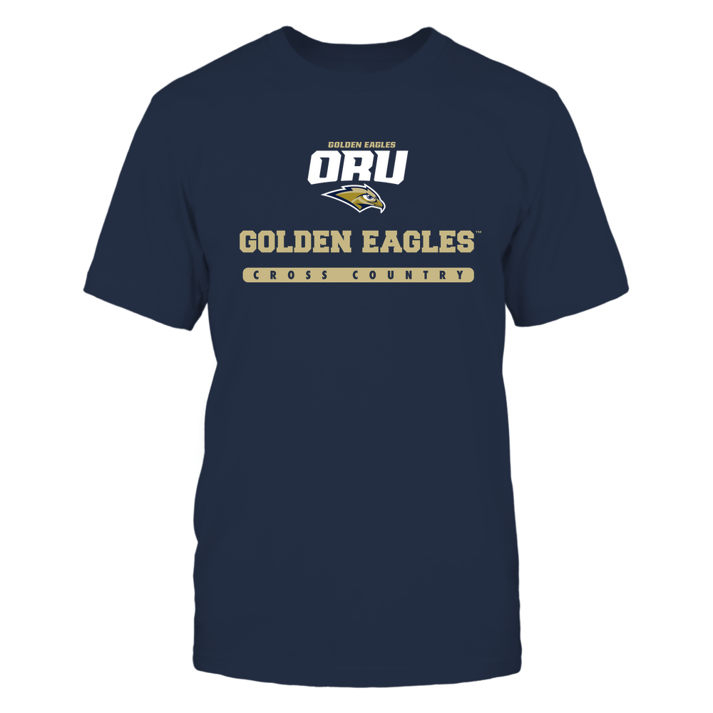 Oral Roberts Golden Eagles - Mascot - Logo - Cross Country Front picture