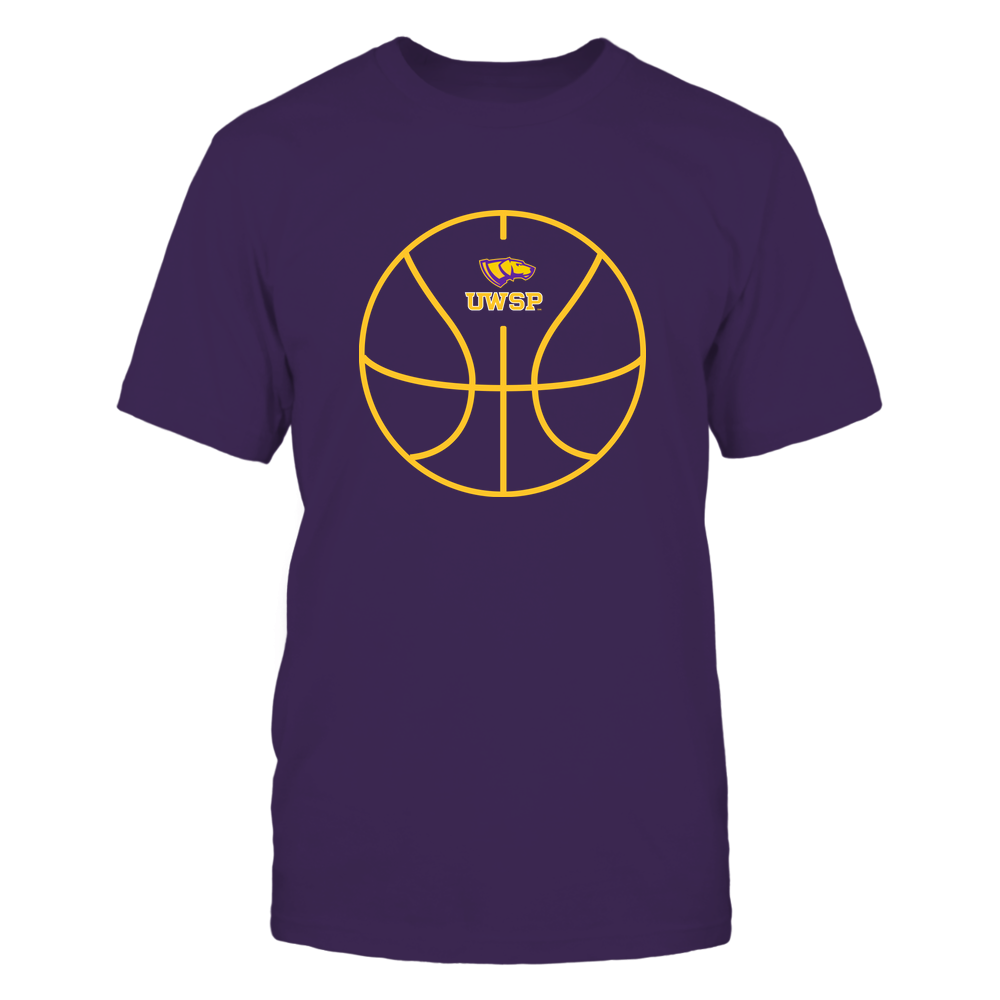 Wisconsin-Stevens Point Pointers - Basketball - Ball Outline Front picture