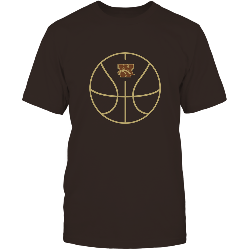 Western Michigan Broncos - Basketball - Ball Outline Front picture