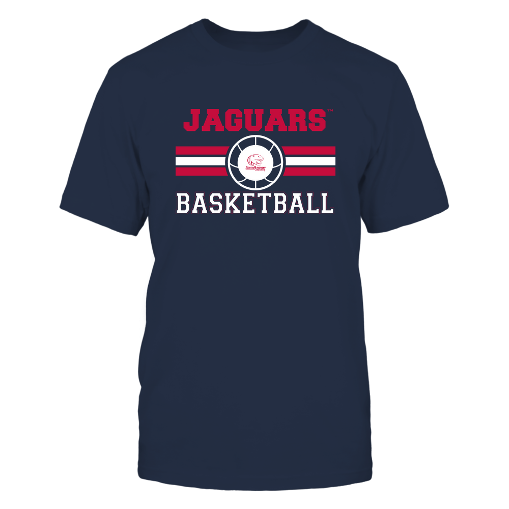 South Alabama Jaguars - Basketball - Center Logo - Retro Stripes Front picture