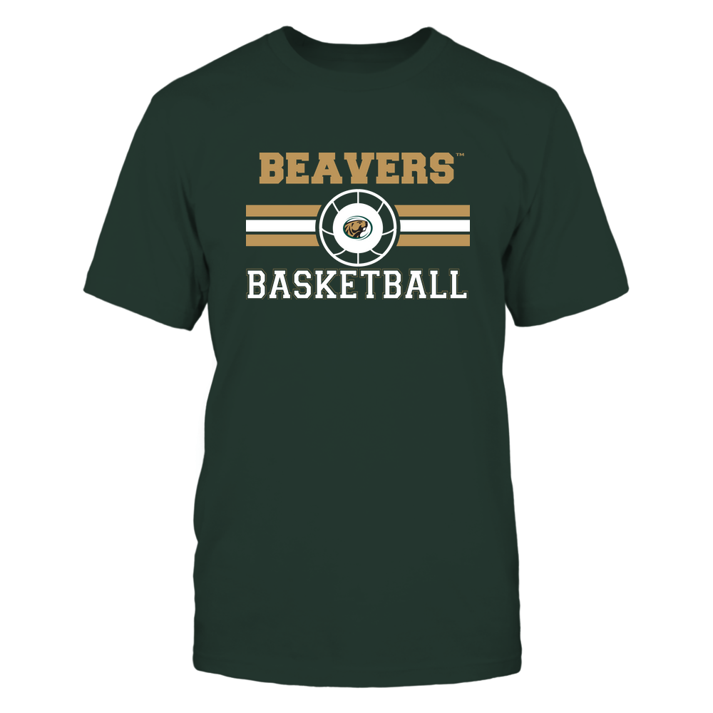 Bemidji State Beavers - Basketball - Center Logo - Retro Stripes Front picture
