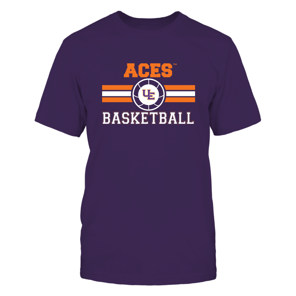Evansville Purple Aces - Basketball - Center Logo - Retro Stripes Front picture