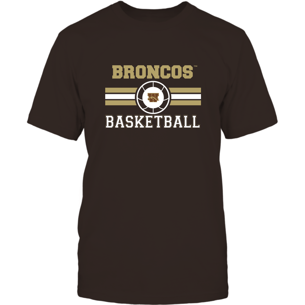Western Michigan Broncos - Basketball - Center Logo - Retro Stripes Front picture