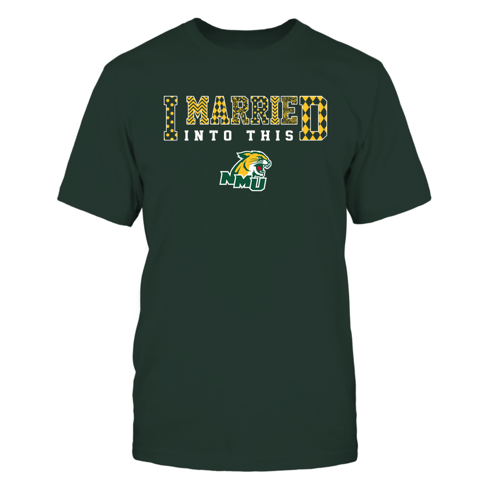 Northern Michigan Wildcats - I Married Into This - Pattern Front picture