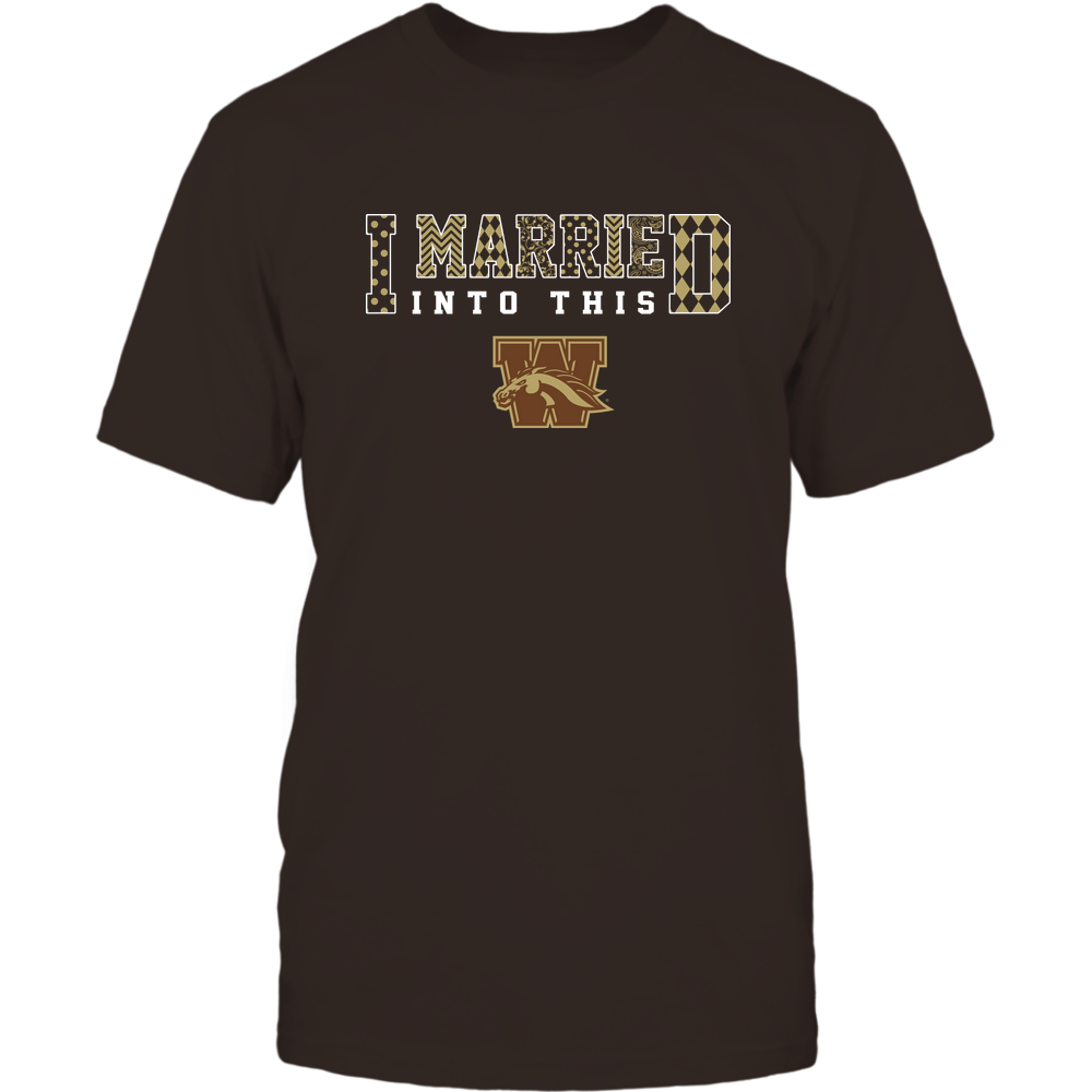 Western Michigan Broncos - I Married Into This - Pattern Front picture