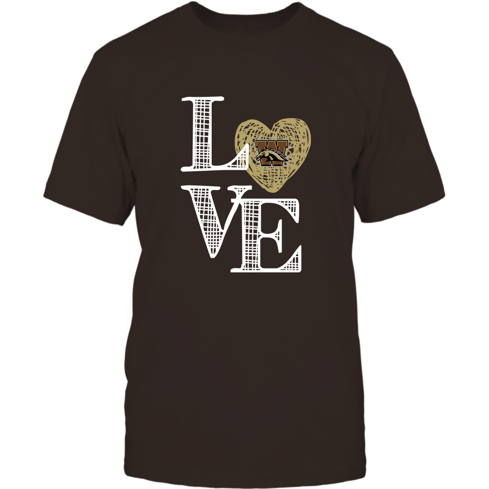 Western Michigan Broncos - Love grid - Team - IF-IC32-DS37 Front picture