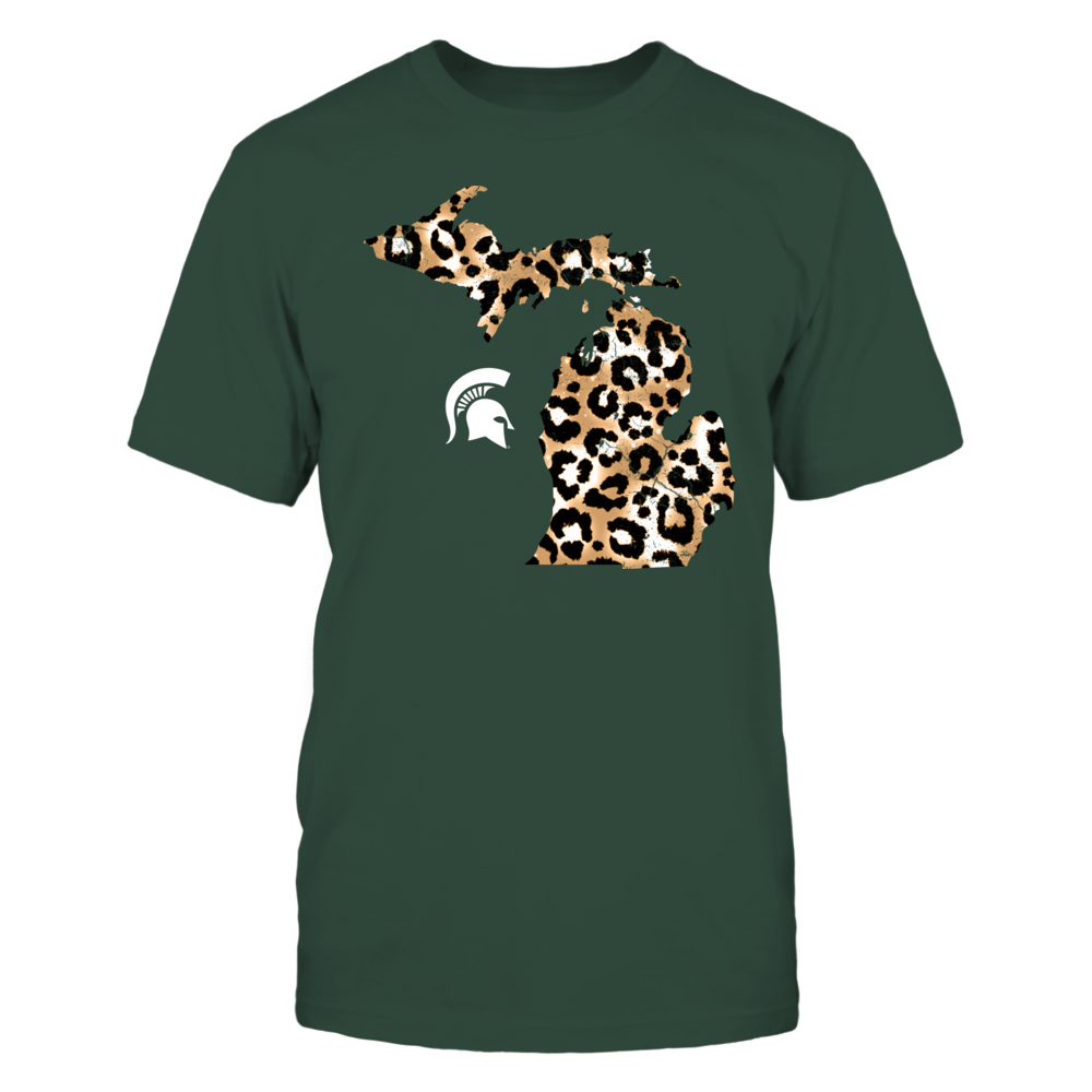 Michigan State Spartans - Leopard State Map - IF17-IC17-DS75 Front picture