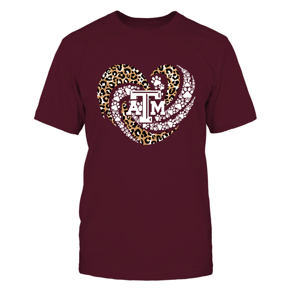 Texas A&M Aggies - Leopard Hurricane Heart Paws Inside - IF13-IC13-DS45 Front picture