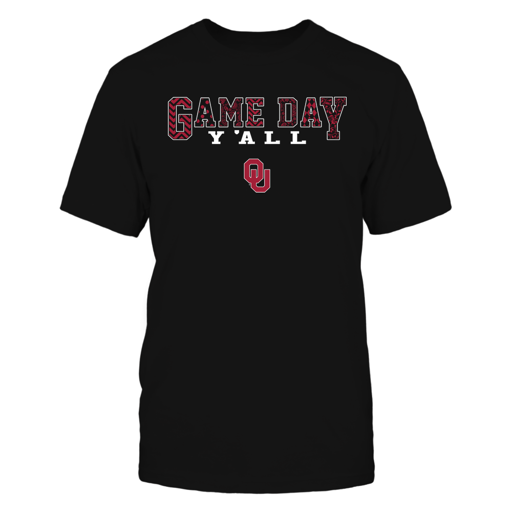 Oklahoma Sooners - Game Day Yall Slogan Pattern - IF17-IC17-DS45 Front picture