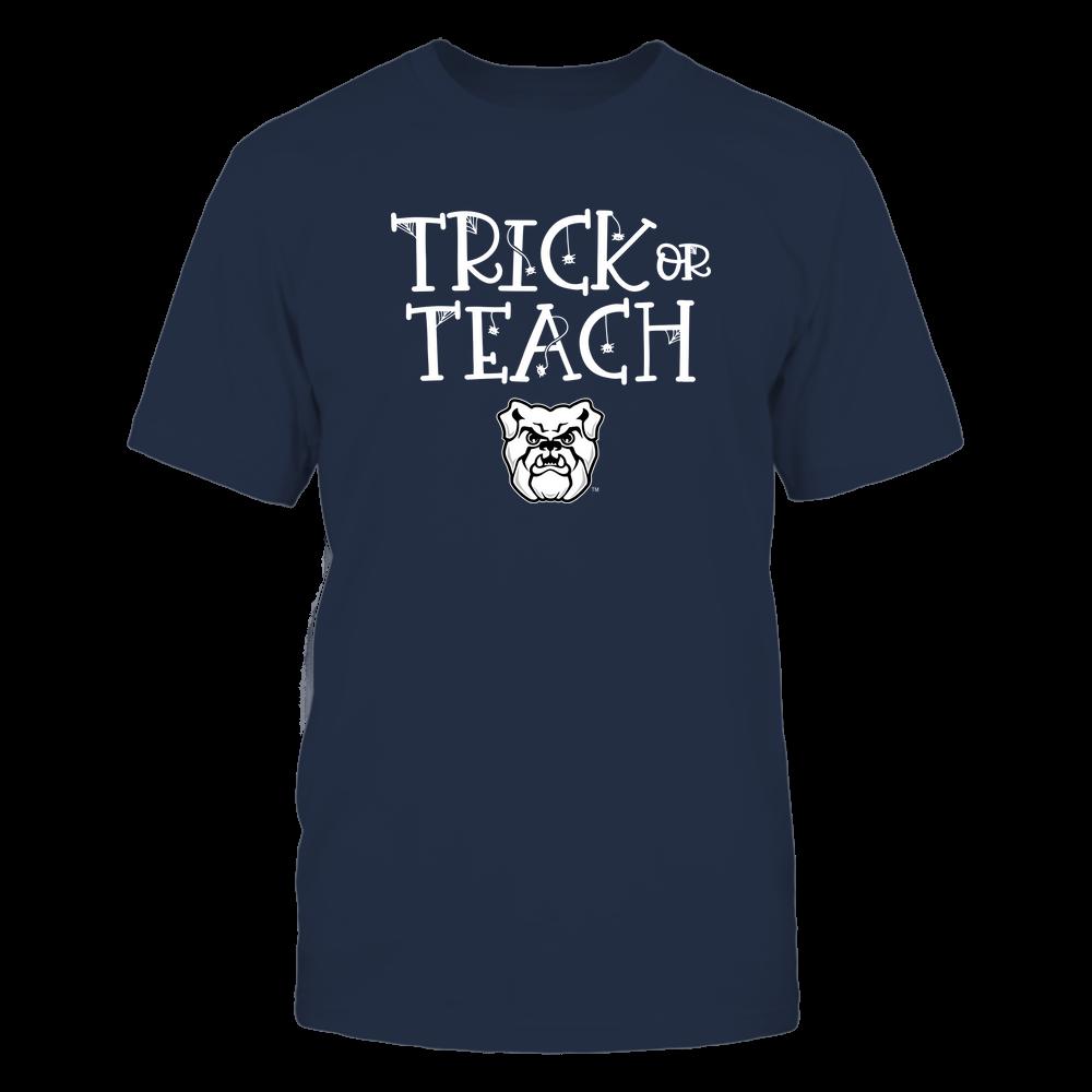 Butler Bulldogs - Trick or Teach Funny Teacher Halloween Shirt Front picture