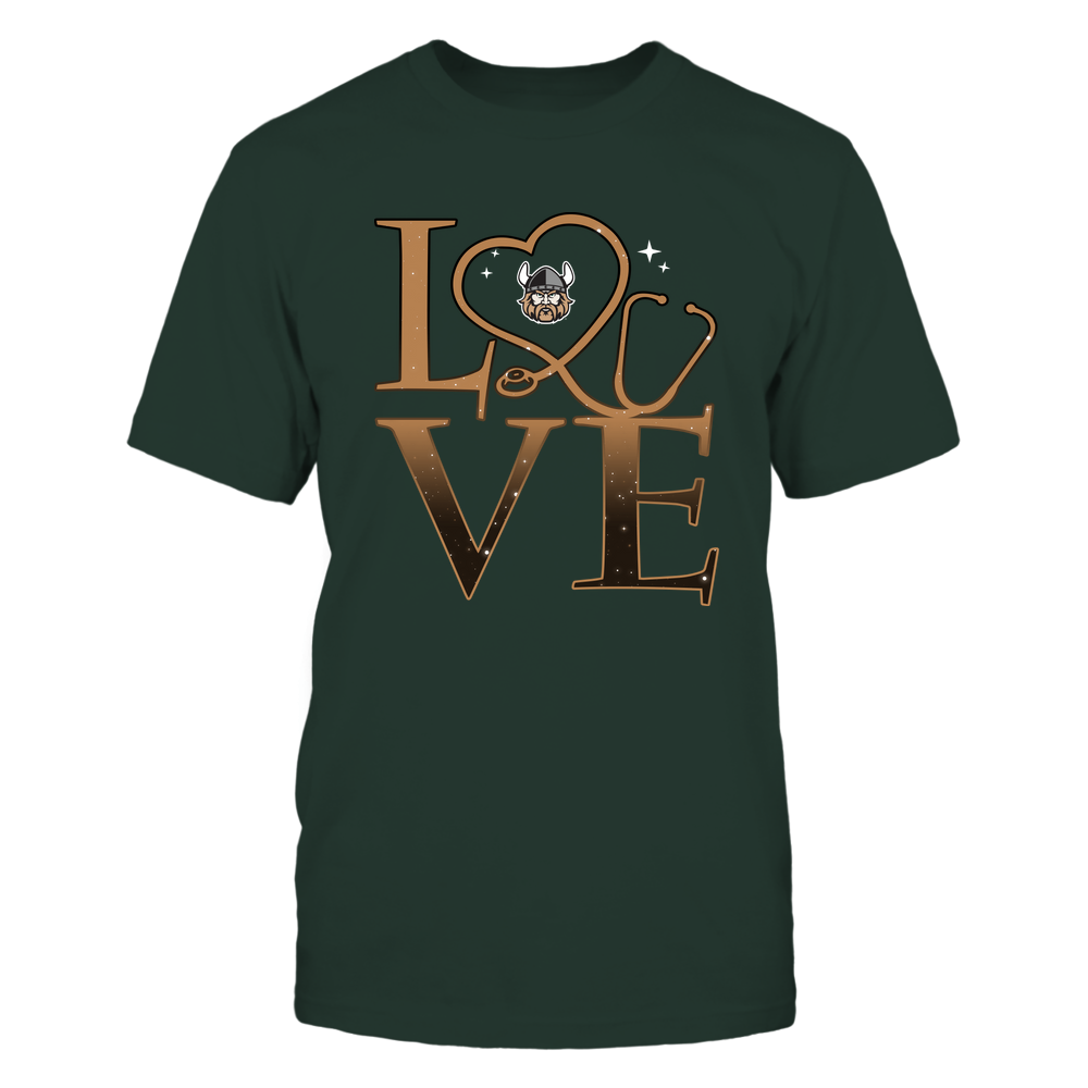 Cleveland State Vikings - Stacked Love Swirly Heart - Nurse Front picture