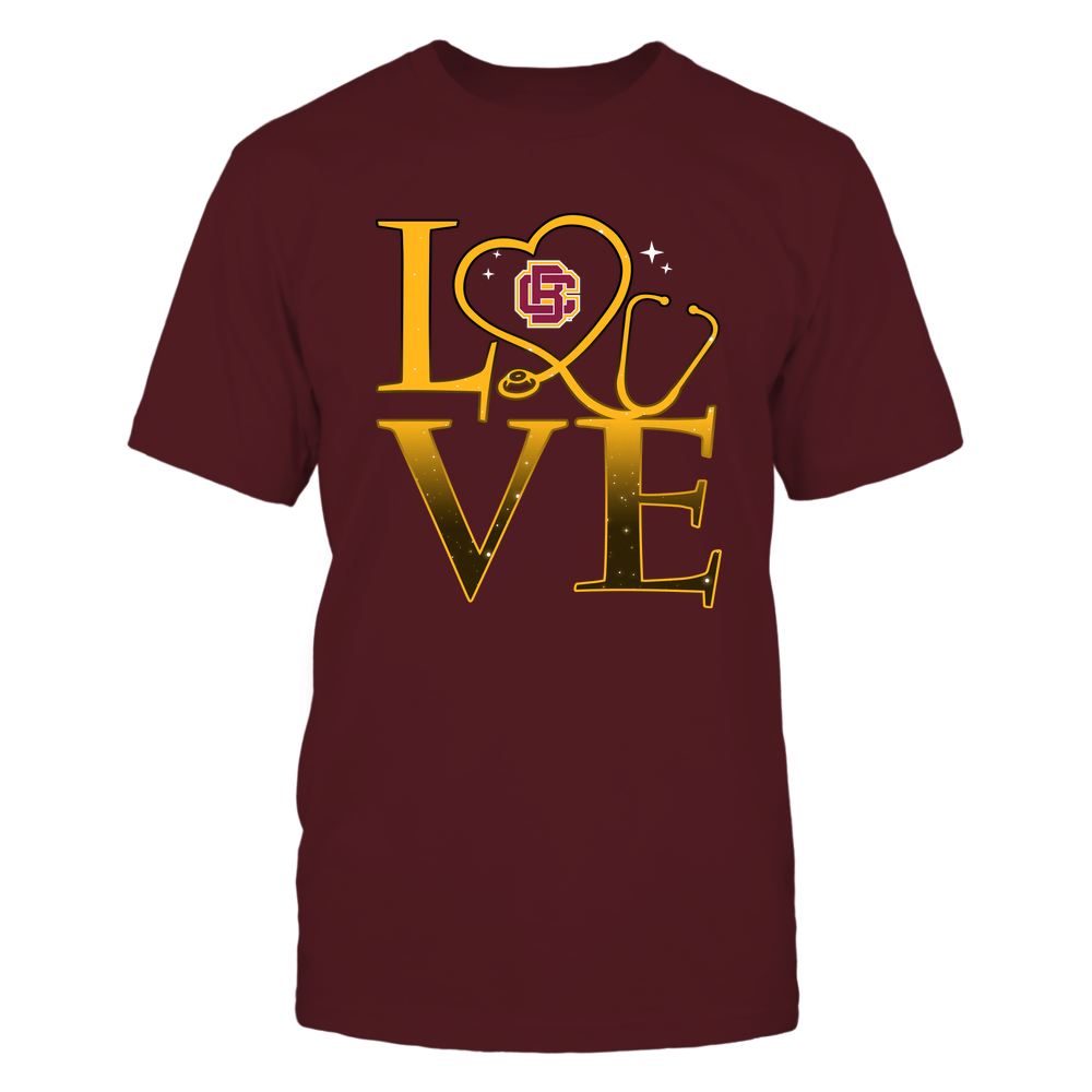 Bethune-Cookman Wildcats - Stacked Love Swirly Heart - Nurse Front picture